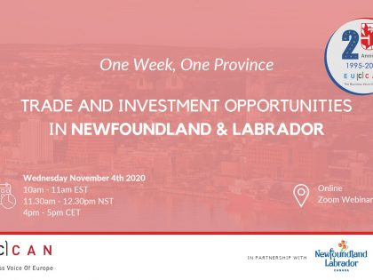 Trade Investment Opportunity in Newfoundland & Labrador!