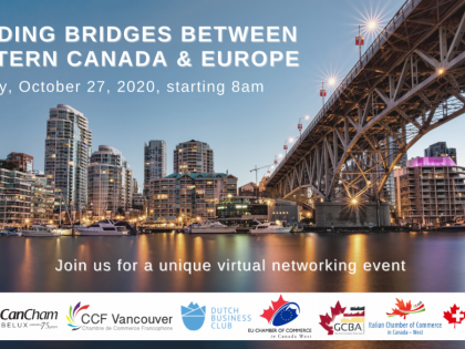 "VIRTUAL NETWORKING EVENT – ""Building Bridges between Western Canada & Europe"""