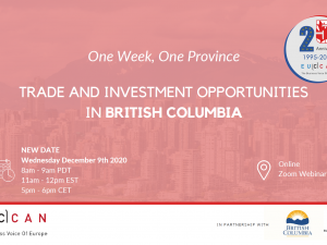 Trade Investment Opportunity in British Columbia!