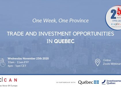 Trade Investment Opportunity in Quebec!
