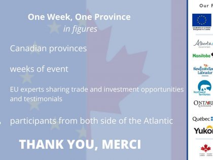 Thank you for attending the 1 Week 1 Province series of Webinar!