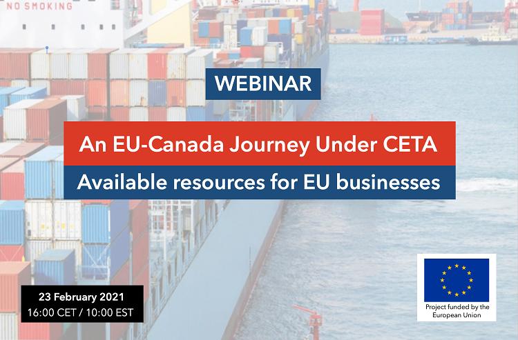 CETA webinar: Available resources for EU businesses 23 February!