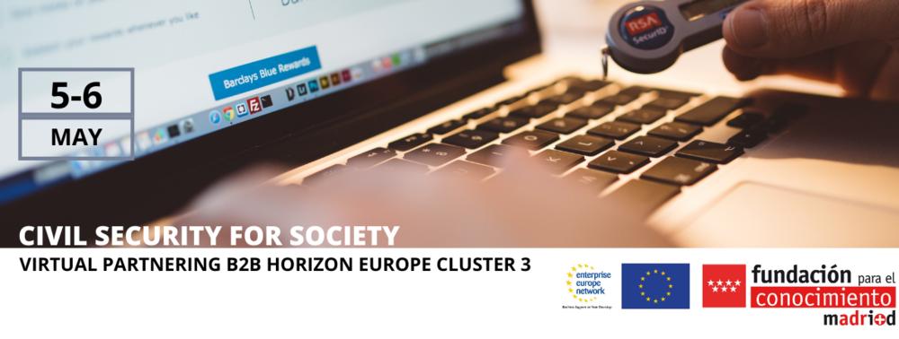 Virtual partnering brokerage Horizon Europe Cluster 3 – Civil Security for Society